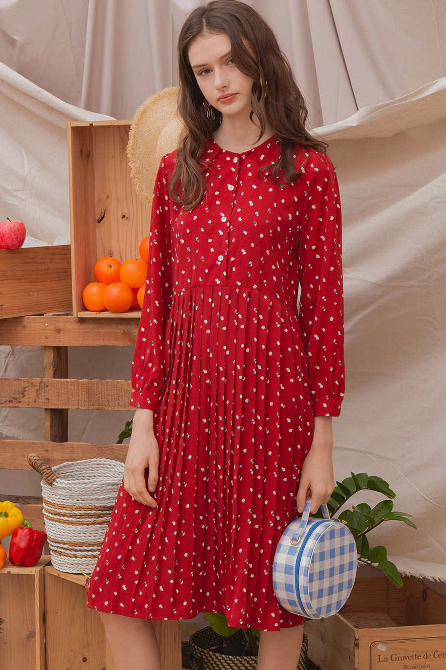 CHARLIE DRESS - CRIMSON PUCE