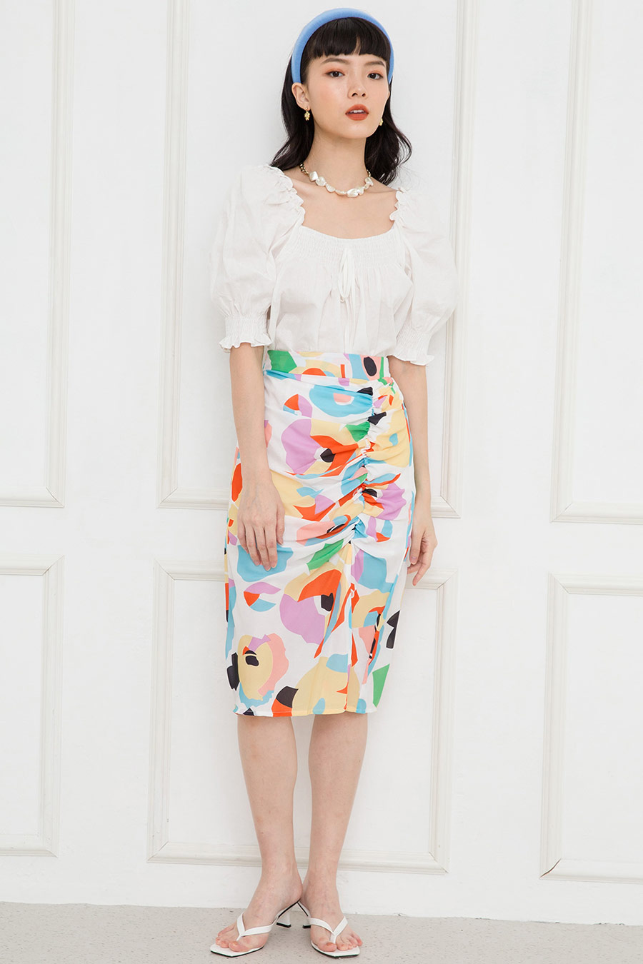 CHARLINE SKIRT - ABSTRACT