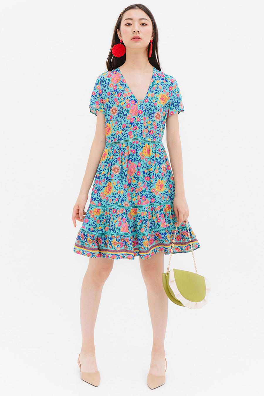 *SALE* CHLOE DRESS - PEONY