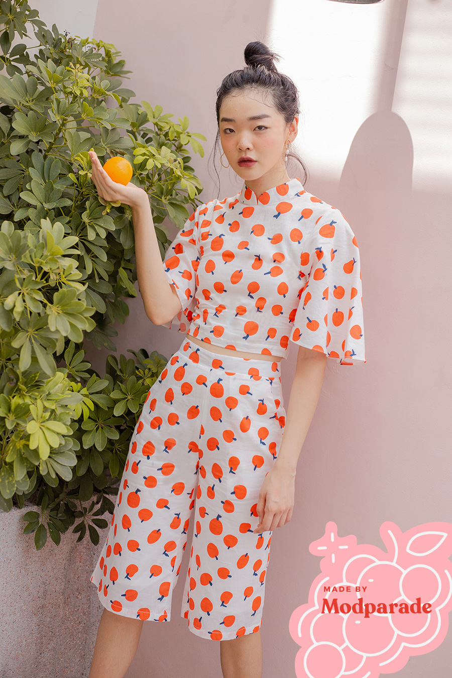 CHOIRI 2PC SET - TANGERINE [BY MODPARADE]