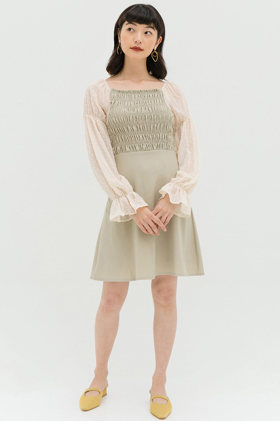 CHOQUET DRESS - SAGE