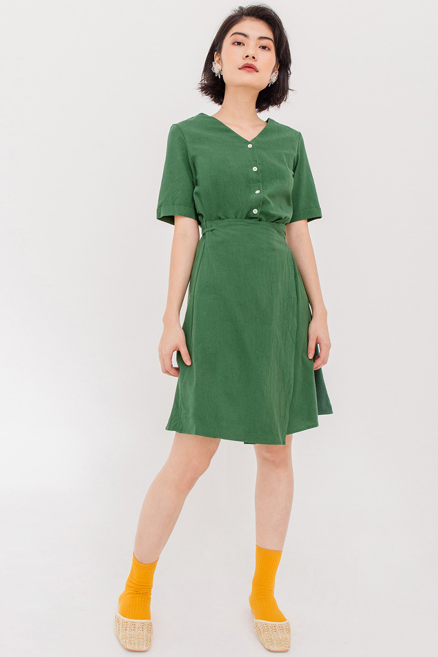 *BO* CLARE WRAP DRESS - GREEN