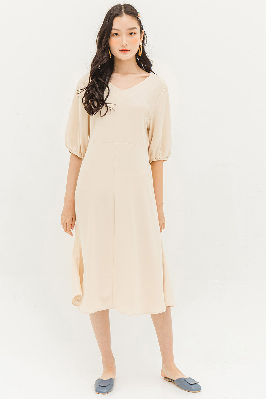 CLARICE DRESS - BISCOTTI
