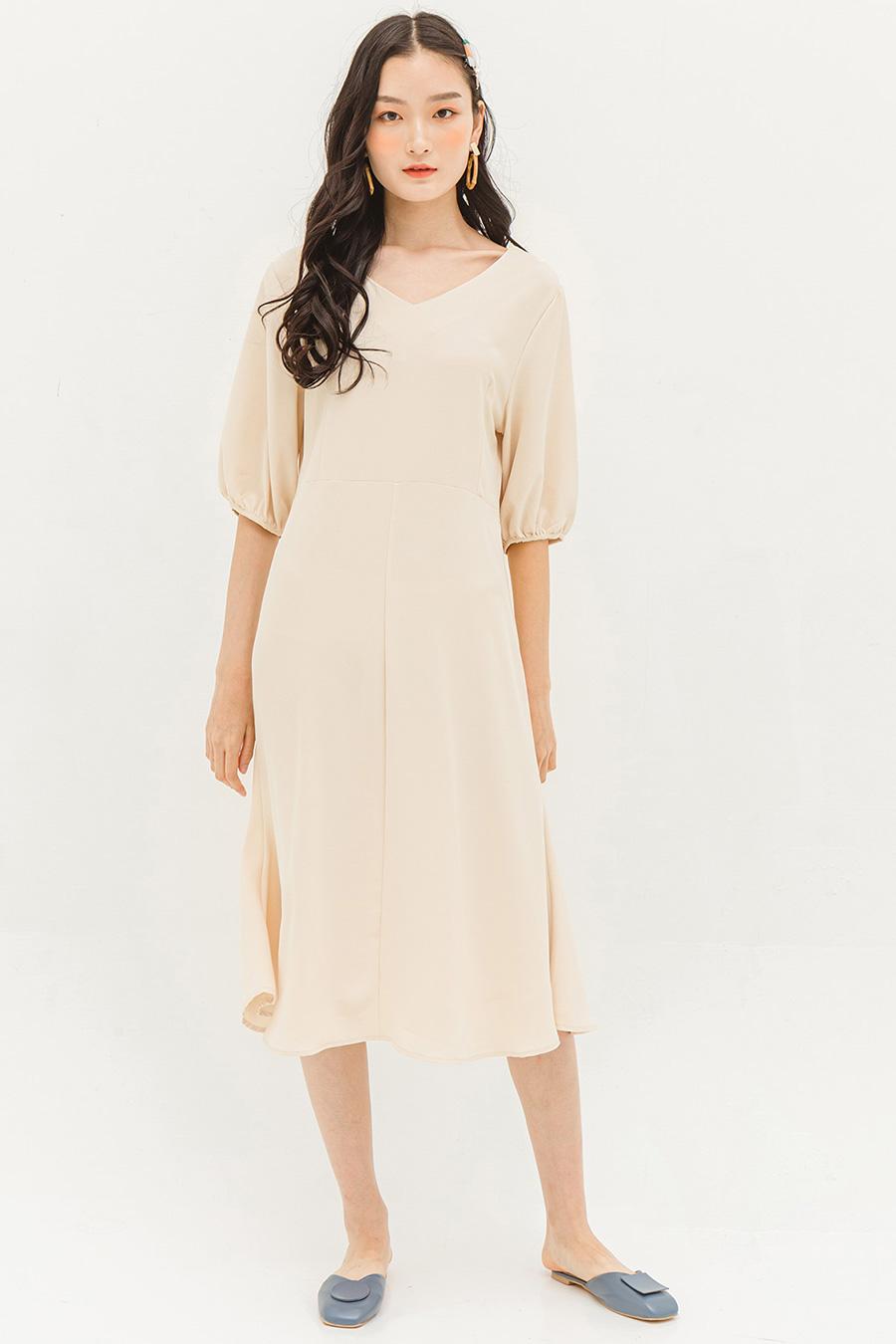 CLARICE DRESS - BISCOTTI