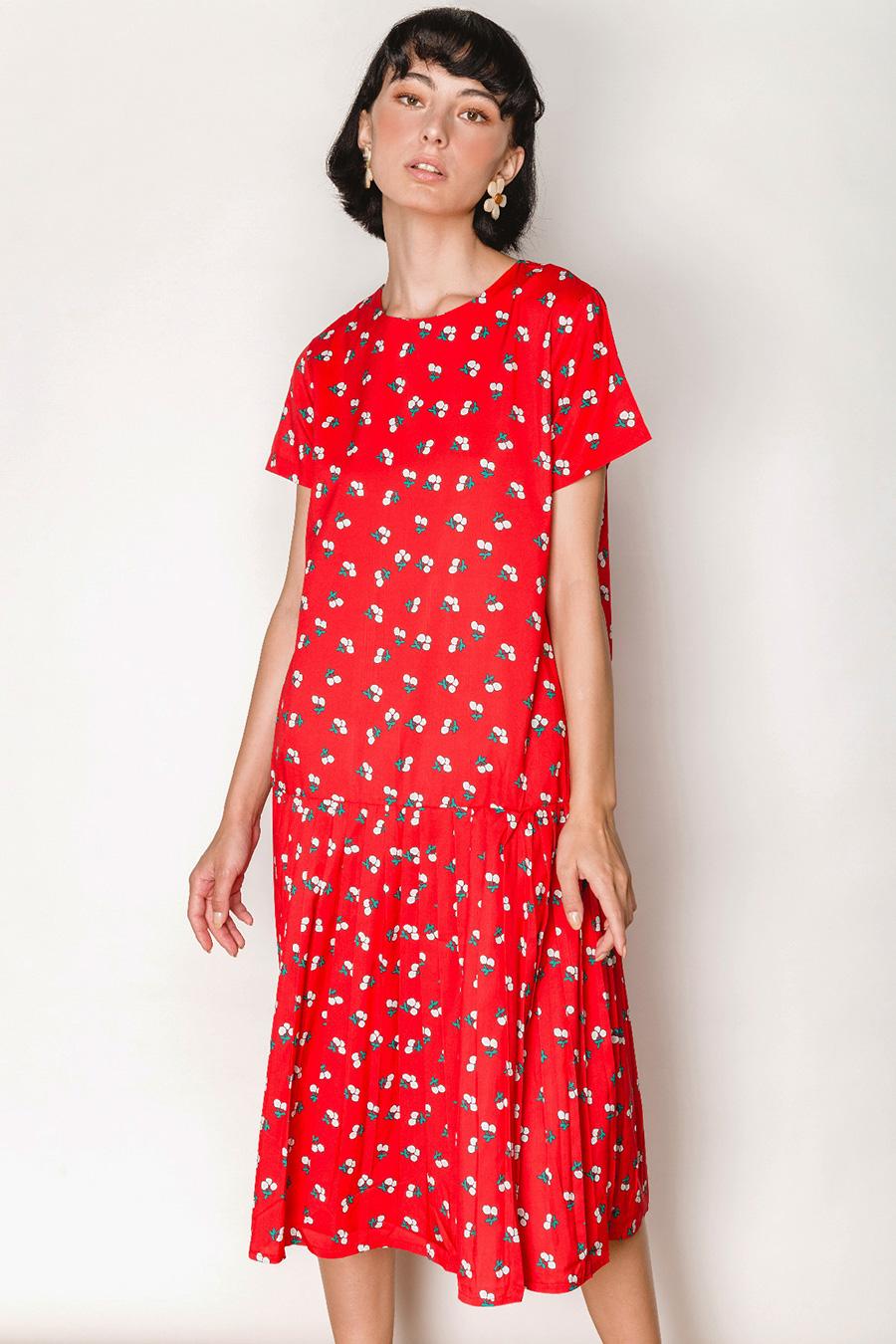 CLARICE DRESS - CHERRIES