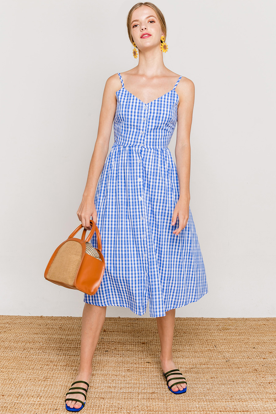 CLAUDIA DRESS - BLUEBELL CHECK