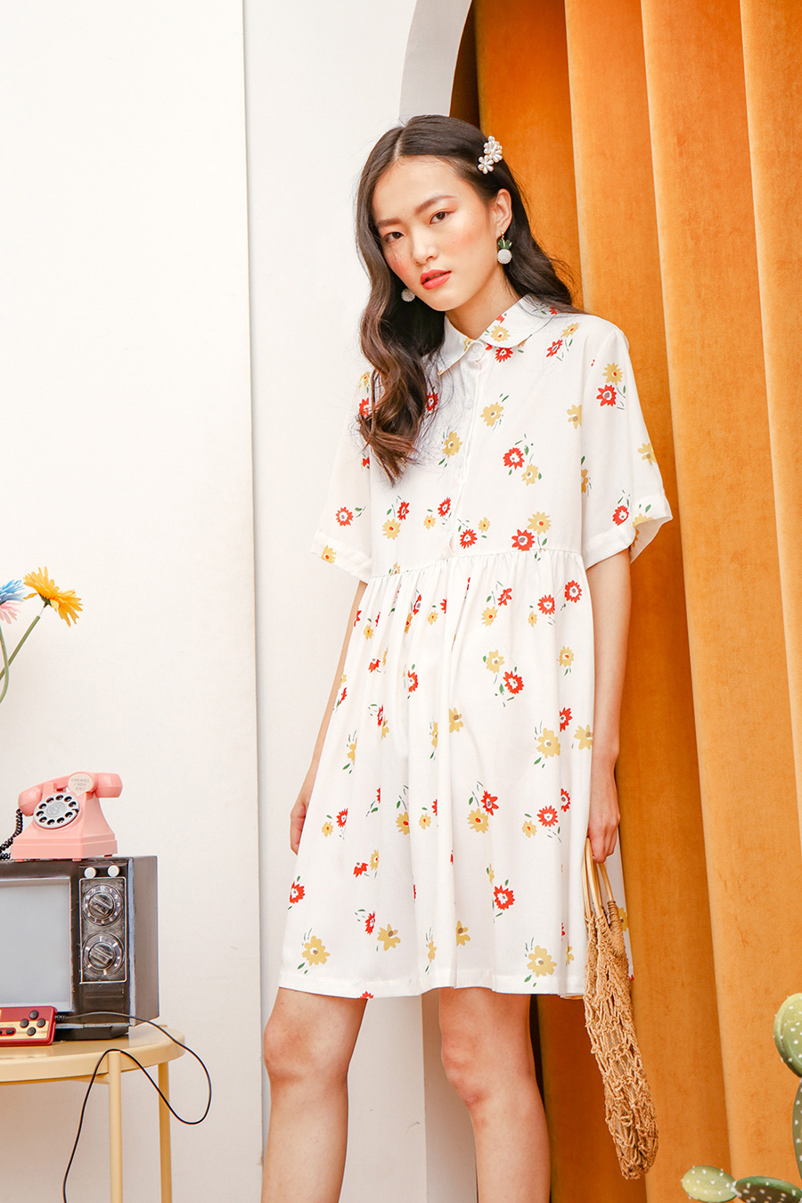 *RESTOCKED* CLEMENTINE DRESS - SUNFLOWER