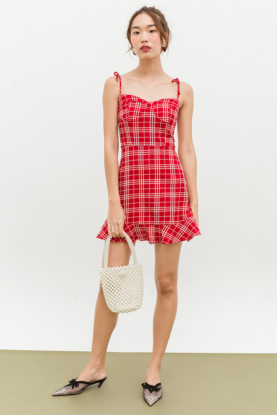 *BO* CLEO DRESS - BARN RED