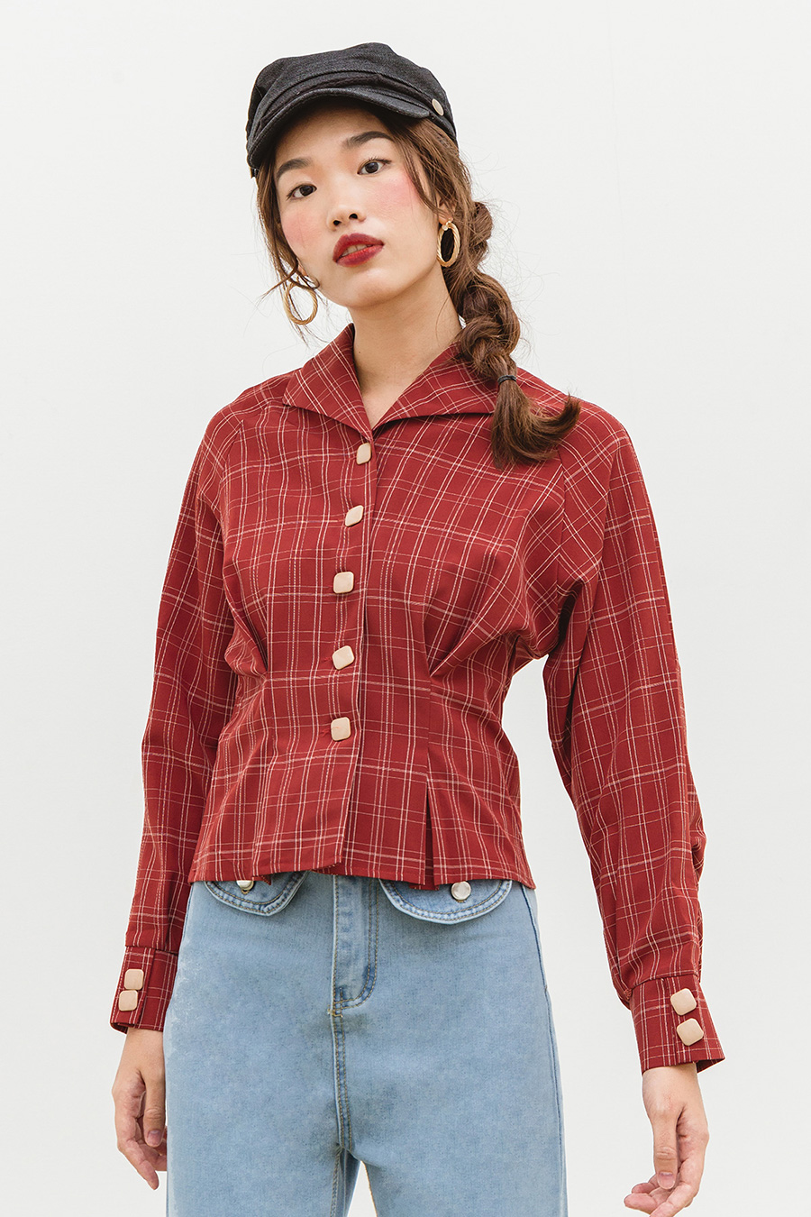 COLISA TOP - BARN RED