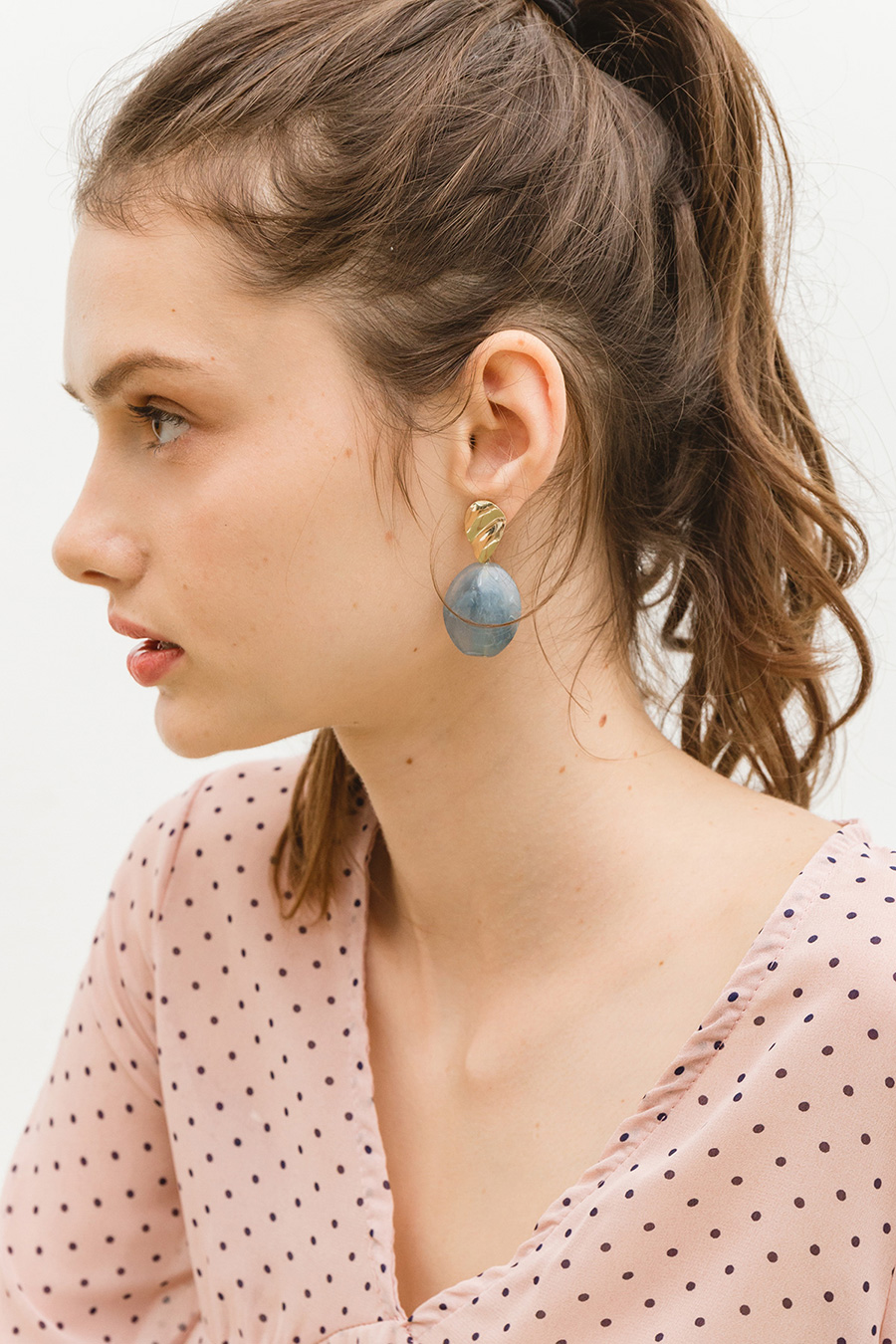 DAMARA EARRING - LAKE BLUE