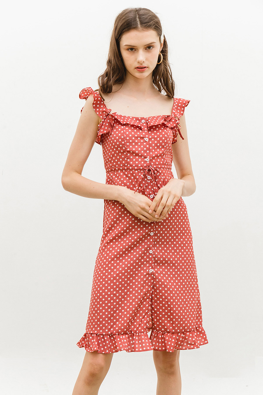 DANA DRESS - OLD ROSE