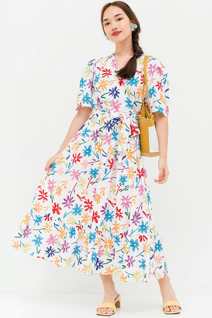 DARLENE DRESS - IVORY FLEUR