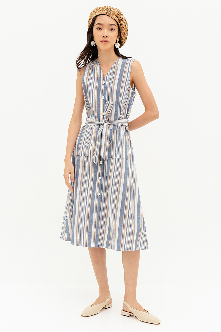 DAUPINE DRESS - MADDIE STRIPE [BY MODPARADE]