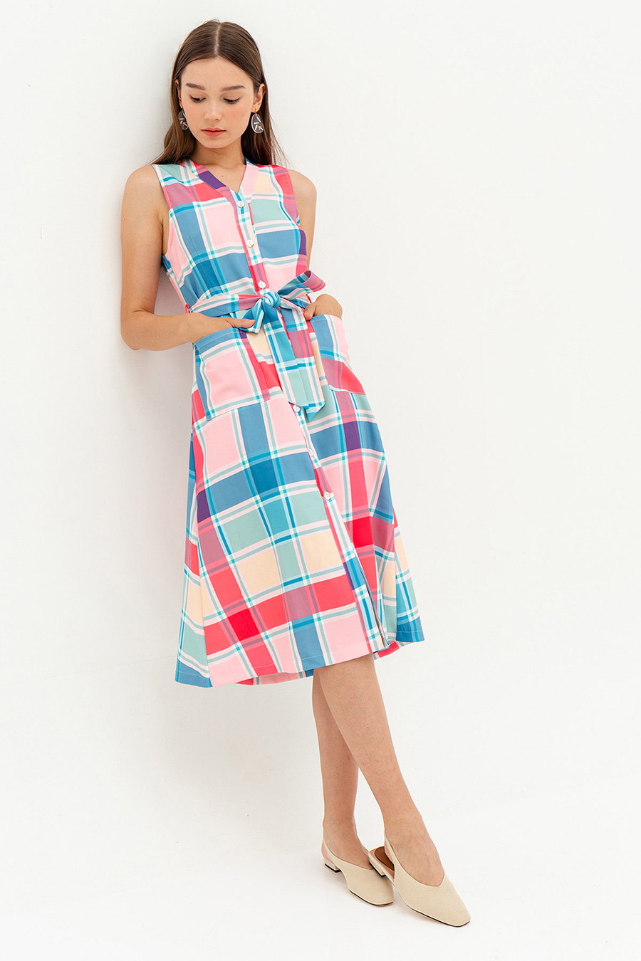 *BO* DAUPINE DRESS - OMBRE PLAID [BY MODPARADE]