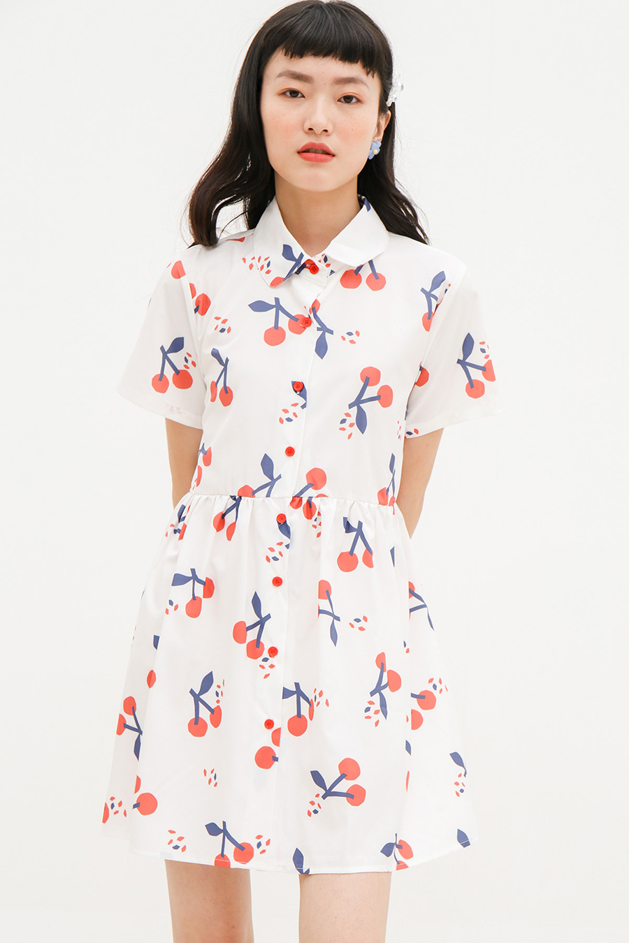 DEHILA DRESS - CHERRY