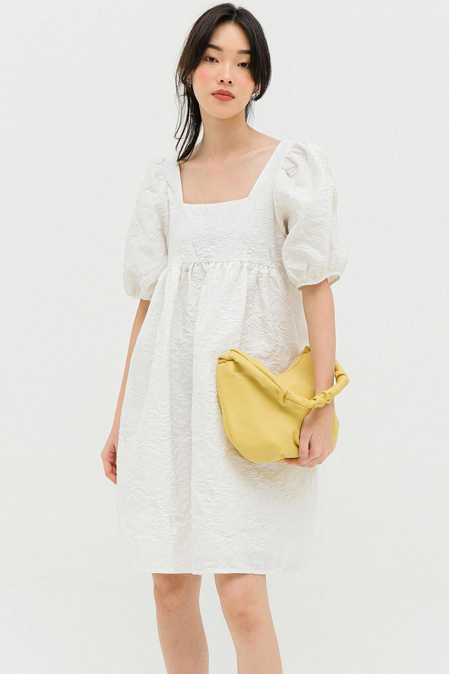 DELAFROSE DRESS - IVORY