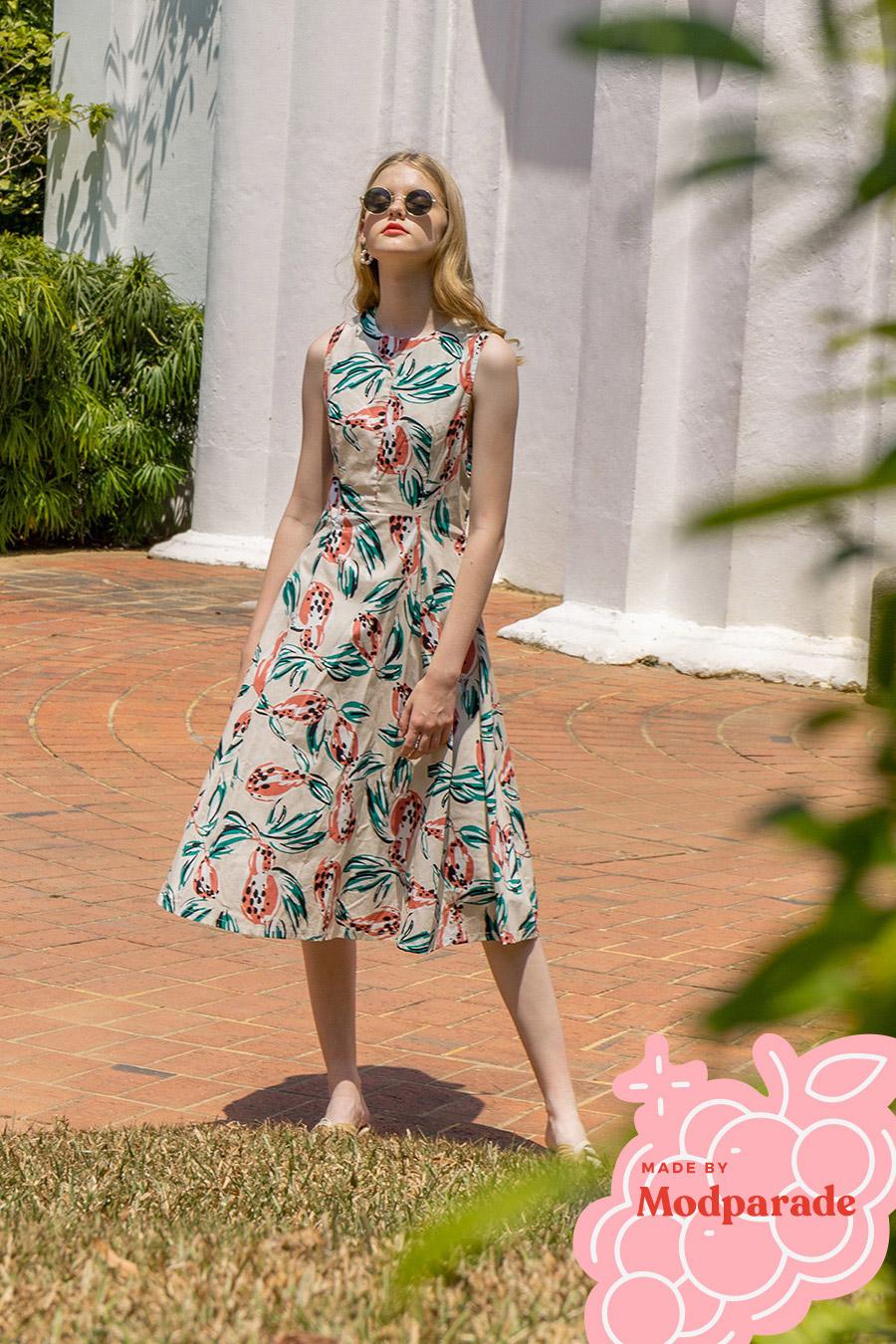 DELLARTE DRESS - CAMELLIA [BY MODPARADE]
