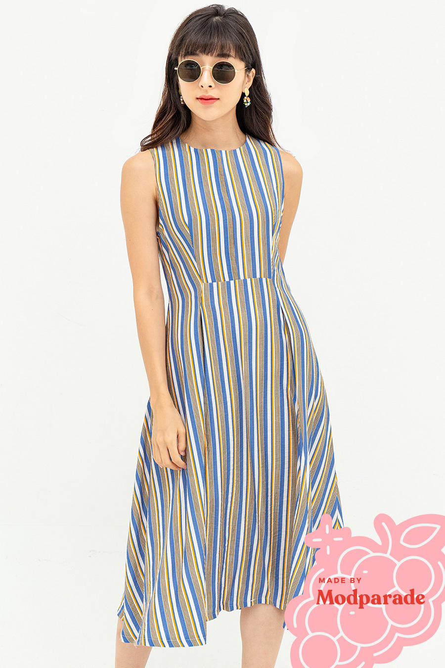 DELLARTE DRESS - HALE STRIPE [BY MODPARADE]