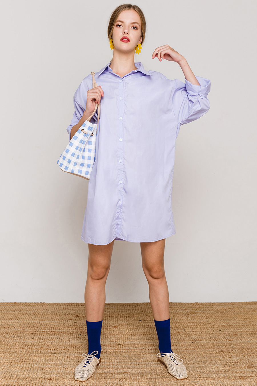 DELPHI DRESS - PERIWINKLE