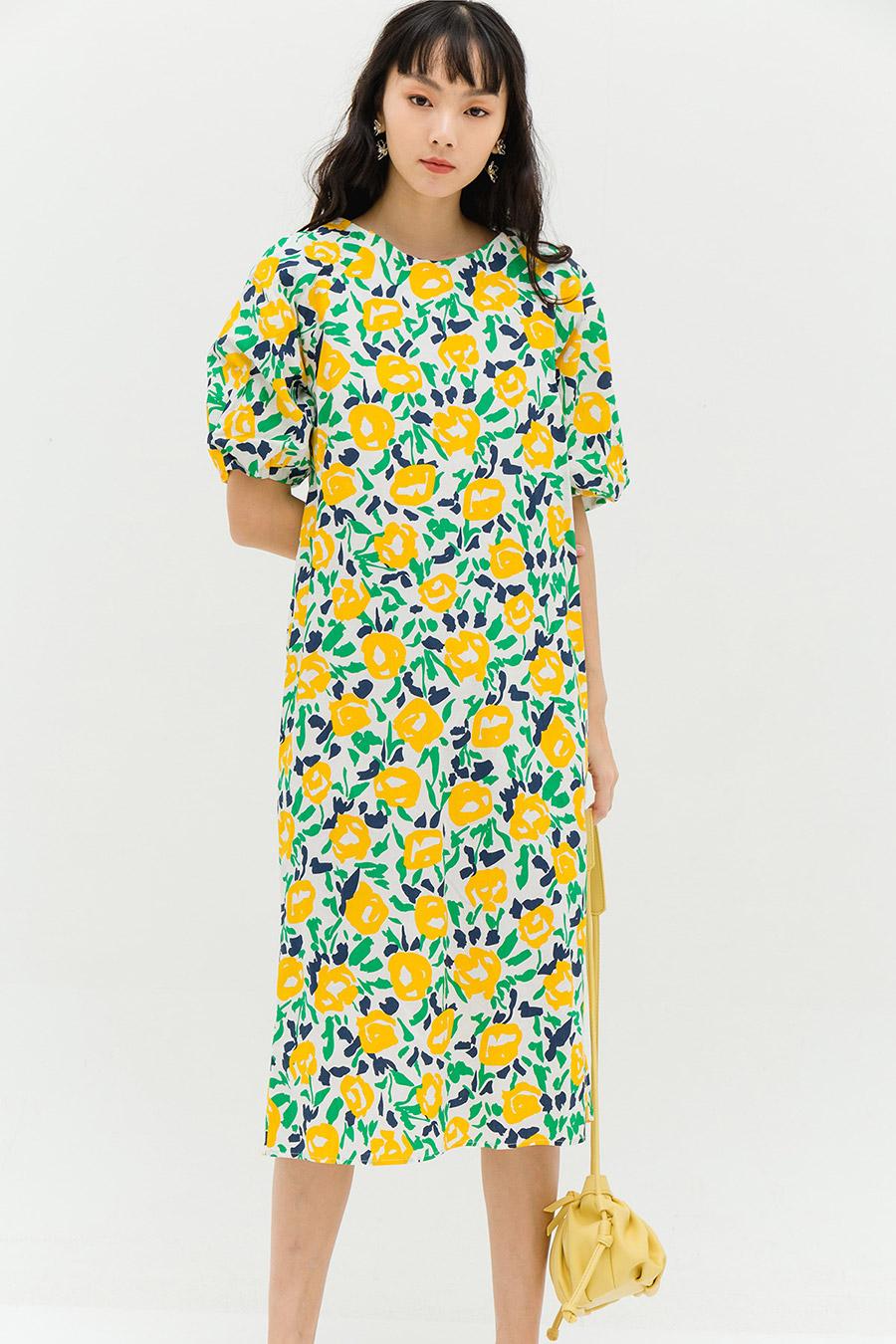 DESIREE DRESS - CANARY FLEUR