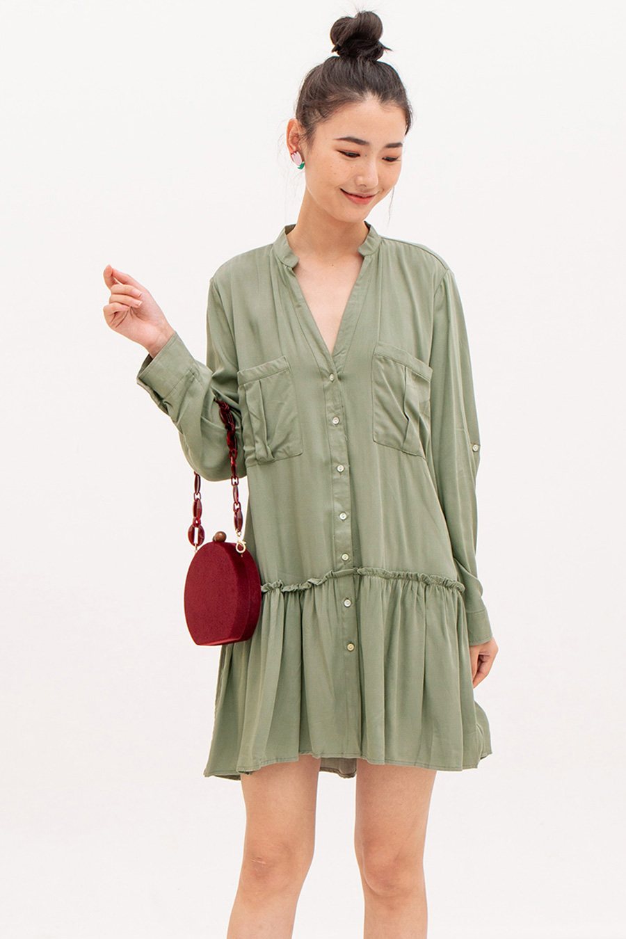*SALE* DOMITELLE DRESS - SAGE