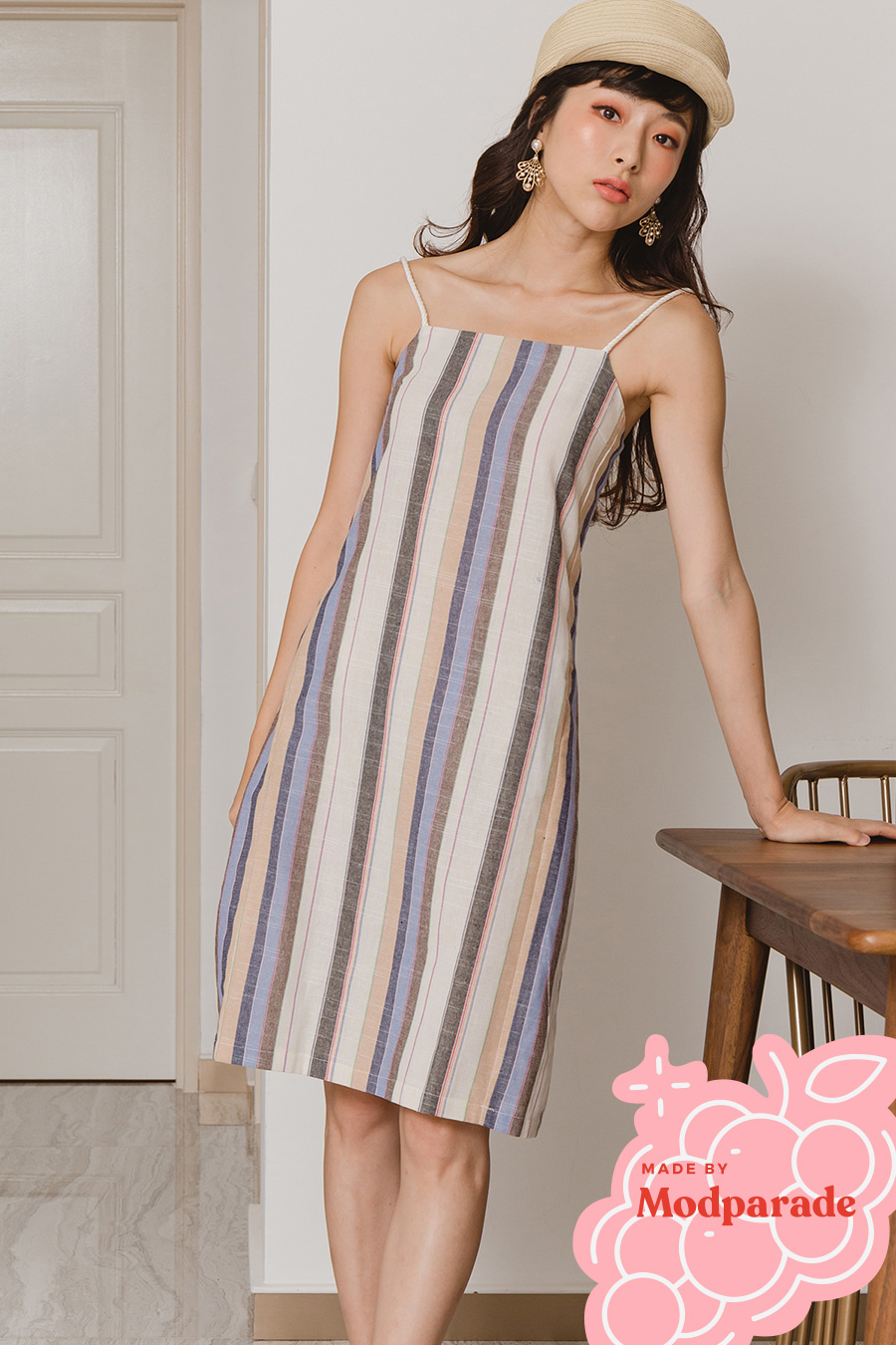DONNA DRESS - CHELSEA STRIPE [BY MODPARADE]