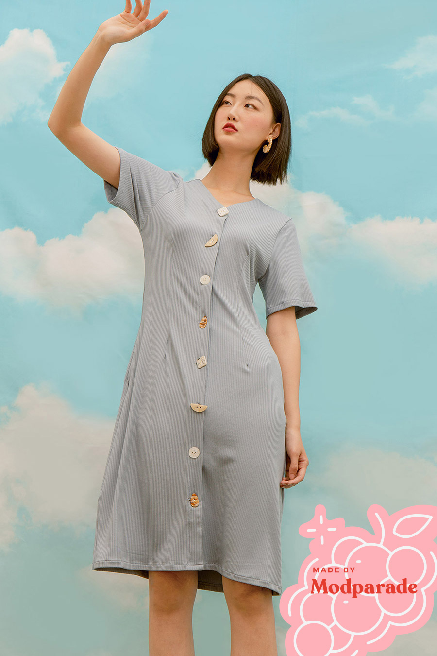 *SALE* DOROTHOEA DRESS - BLUESTONE [BY MODPARADE]