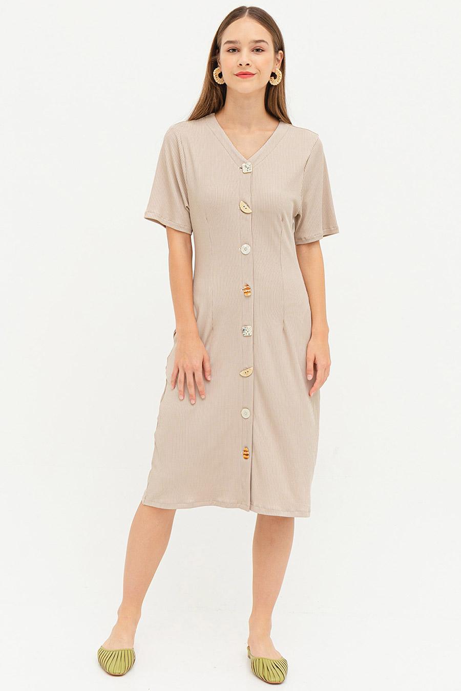 *SALE* DOROTHOEA DRESS - VANILLA CUSTARD [BY MODPARADE]