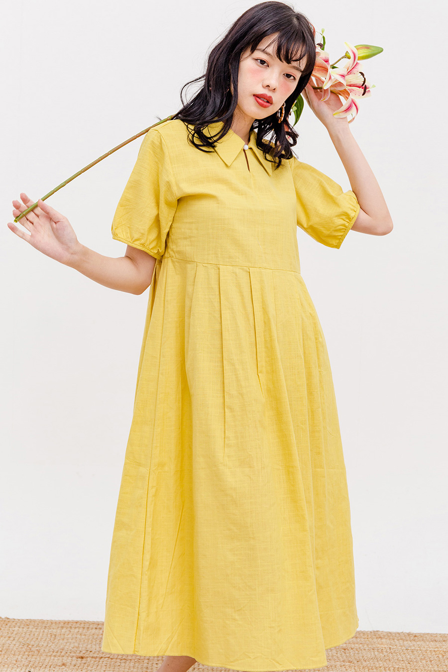 EFFIE MIDI DRESS - BUTTERSCOTCH