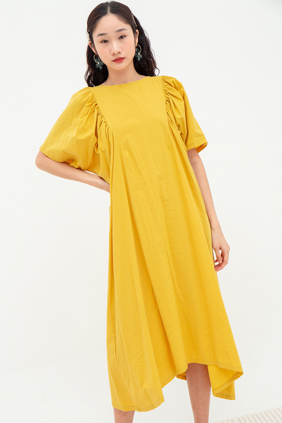 ELENORA DRESS - BUTTER