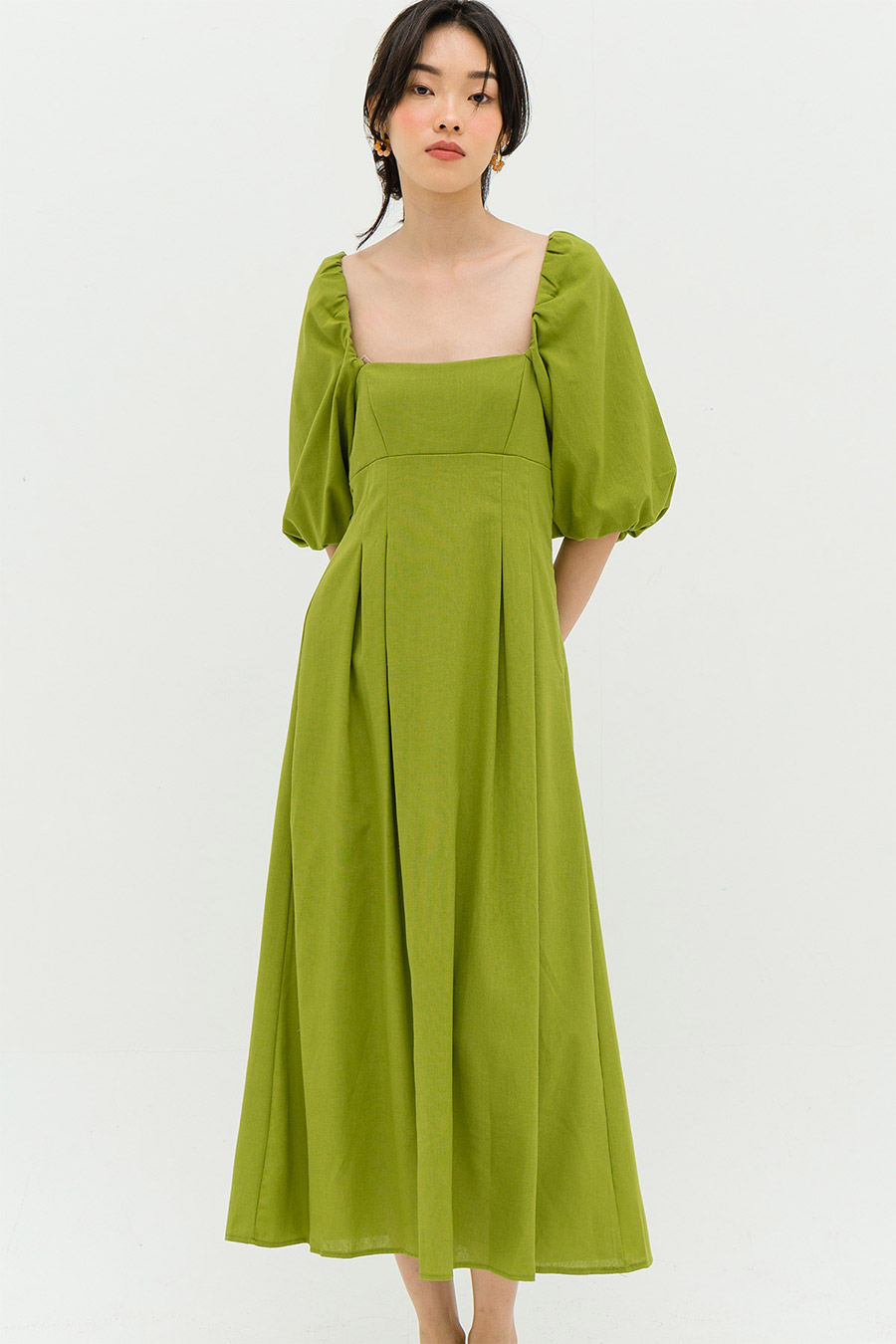 *RESTOCKED* ELISEE DRESS - LIMEADE