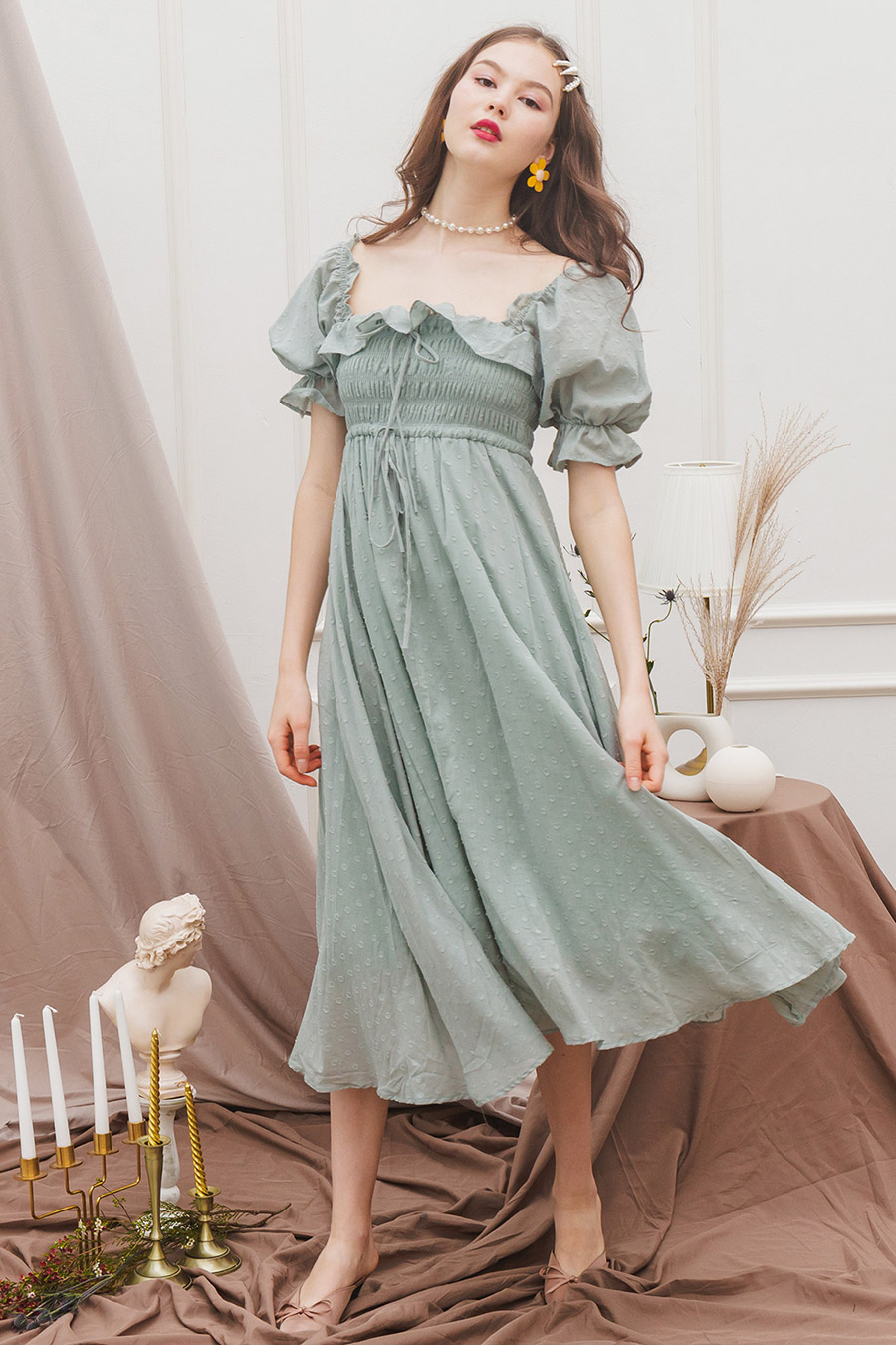 ELMA DRESS - MINT TEA