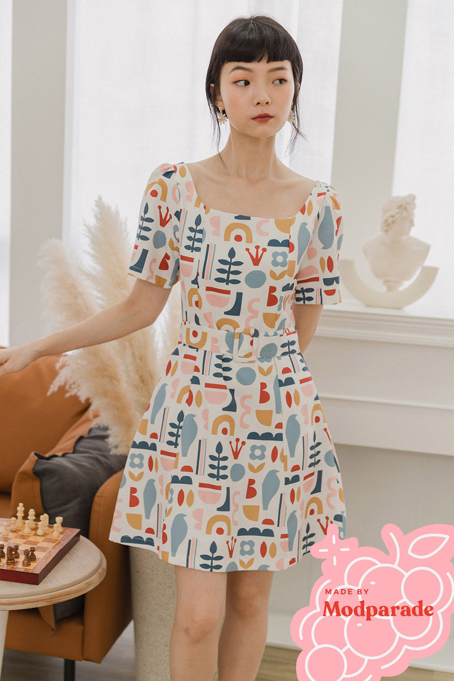 ELOISE DRESS - KITSCH [BY MODPARADE]