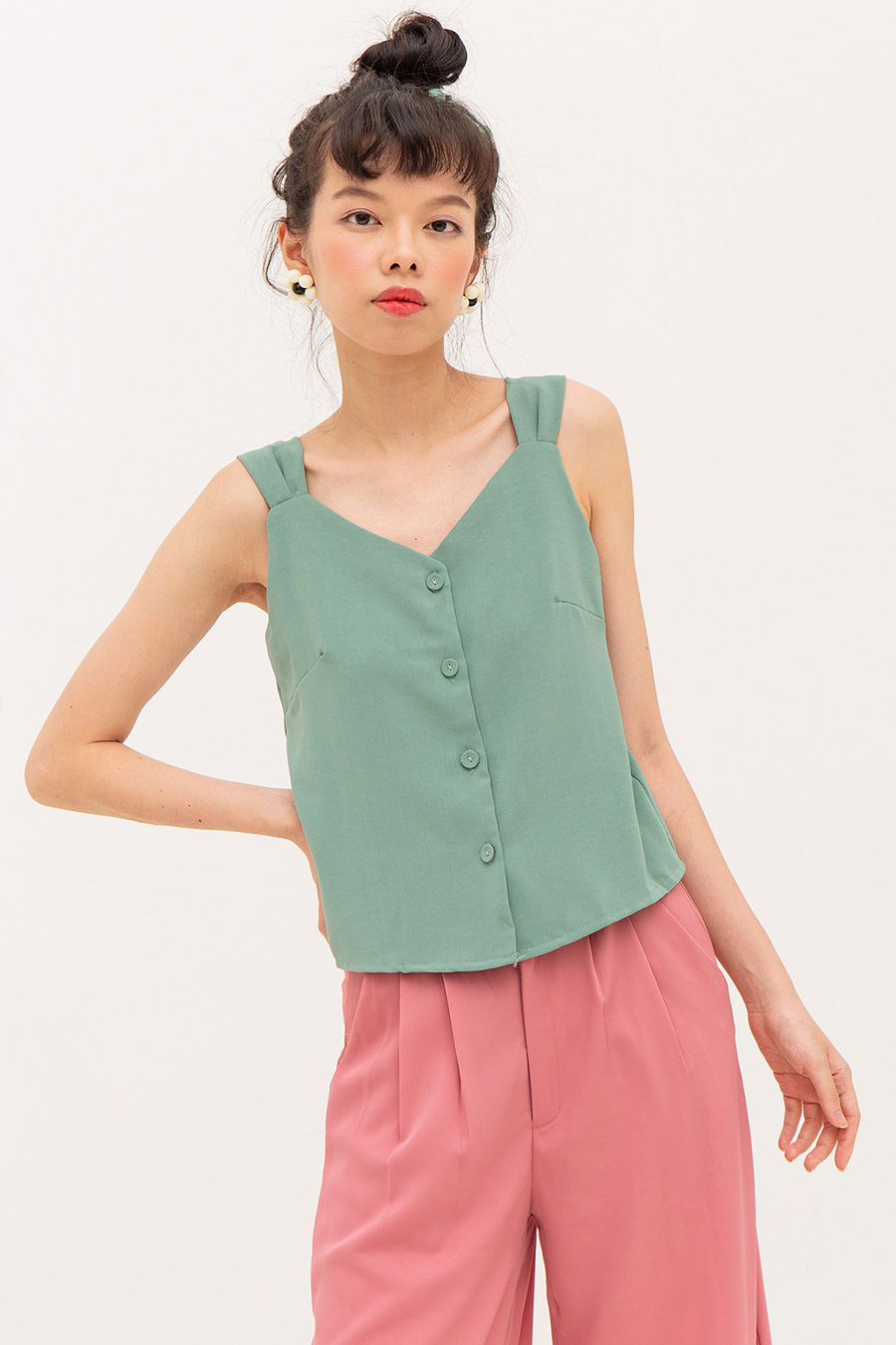 ELVIRE TOP - MINT