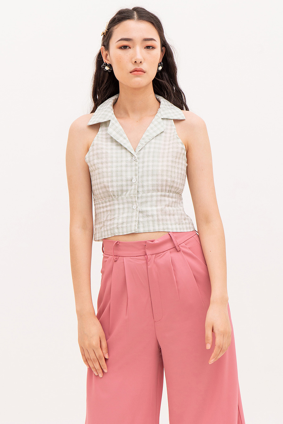 EMILIEON TOP - PLAID