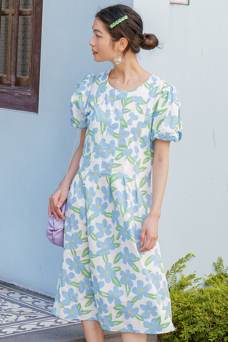 EMMA DRESS - LAKE FLEUR