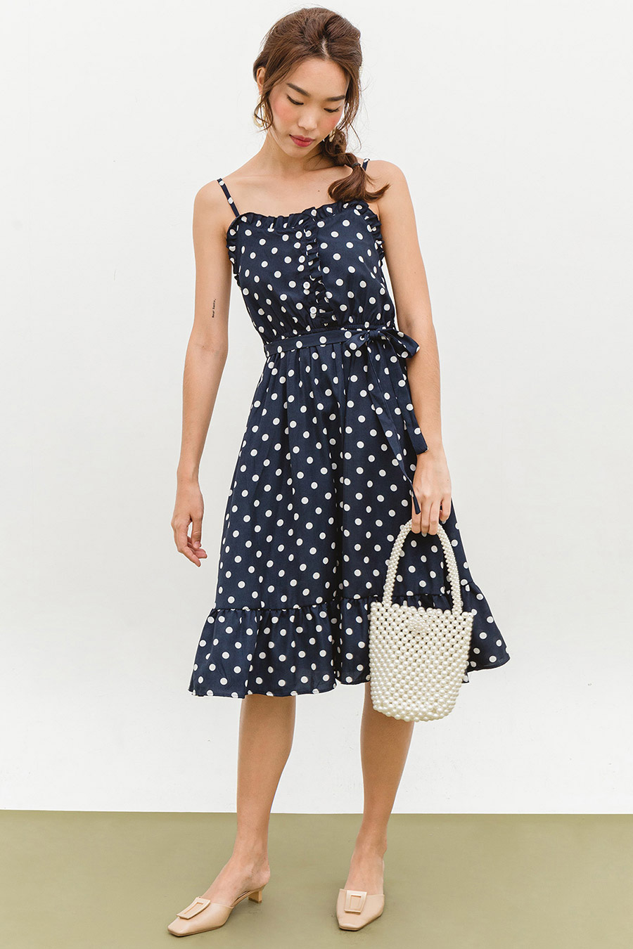ESMEE DRESS - MIDNIGHT DOTTY