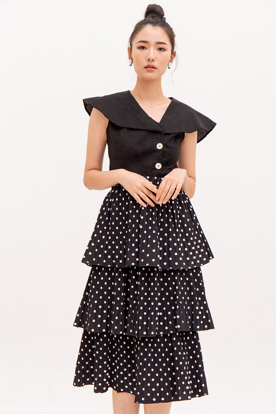 EVELYN SKIRT - NOIR DOTTY