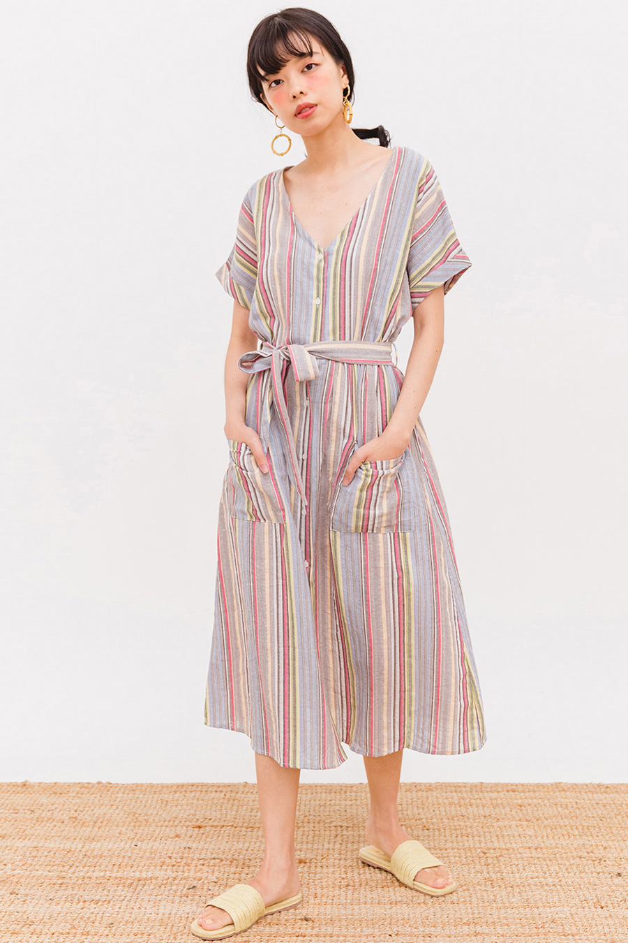 FABIANA MIDI DRESS - IBIZA STRIPE