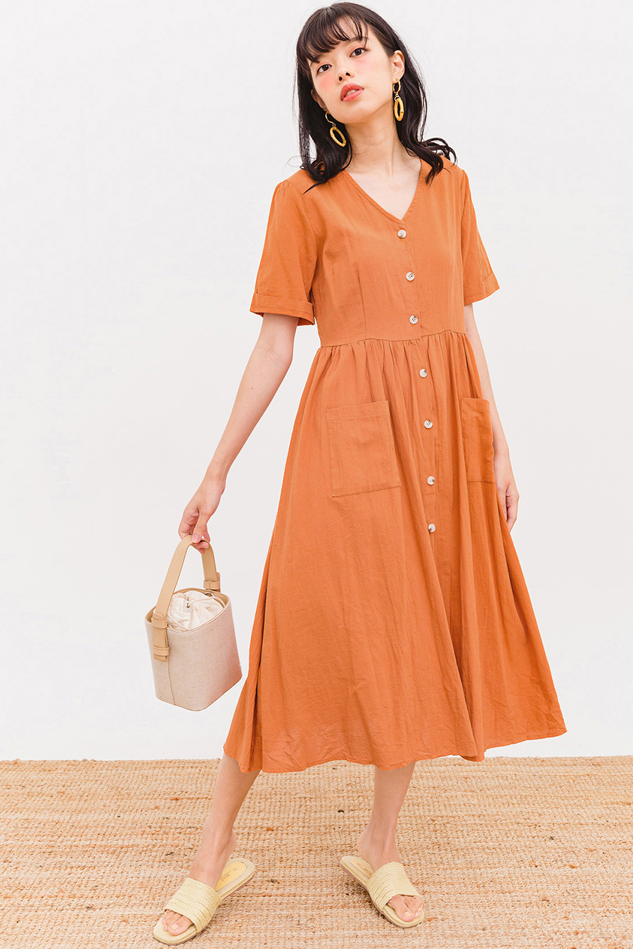 *BO* FAYE MIDI DRESS - MARMALADE