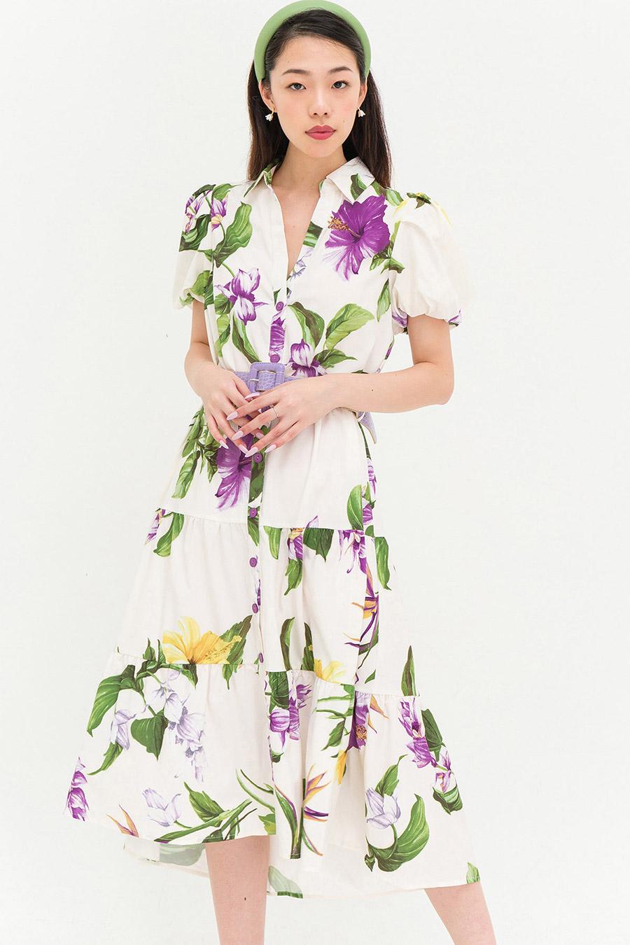 *RESTOCKED* FIEST DRESS - IVORY FLEUR