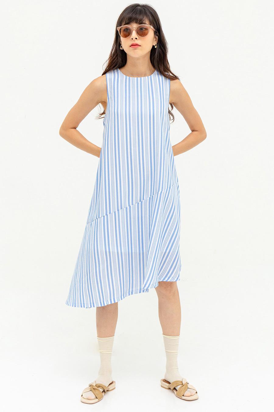 FIUGGI DRESS - MILK JUG STRIPE [BY MODPARADE]