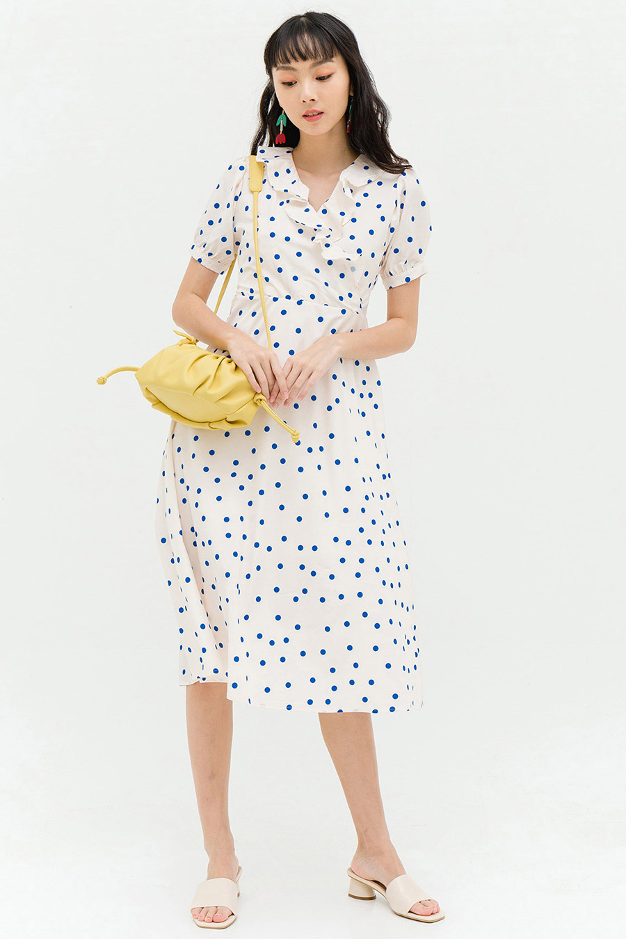 FLETCHER DRESS - IVORY DOTTIE