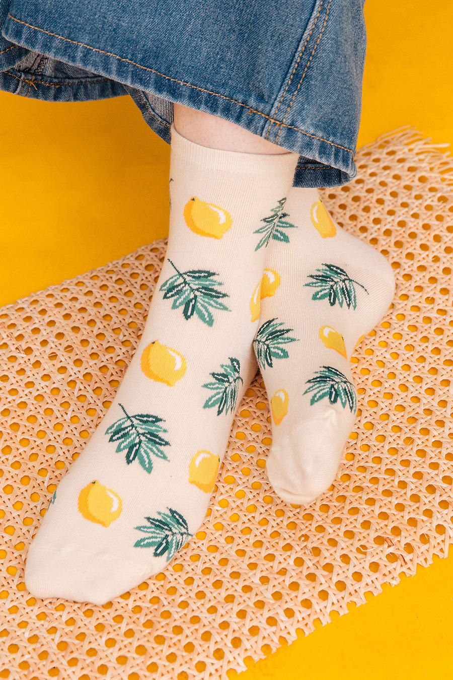 LEMONADE SOCKS - CREAM