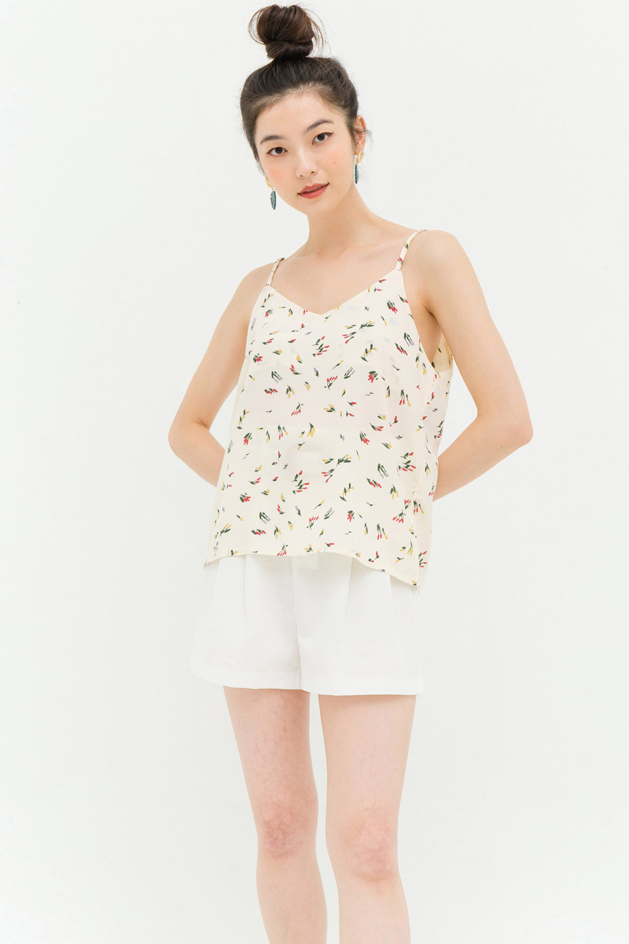 FOSTER TOP - IVORY FLEUR