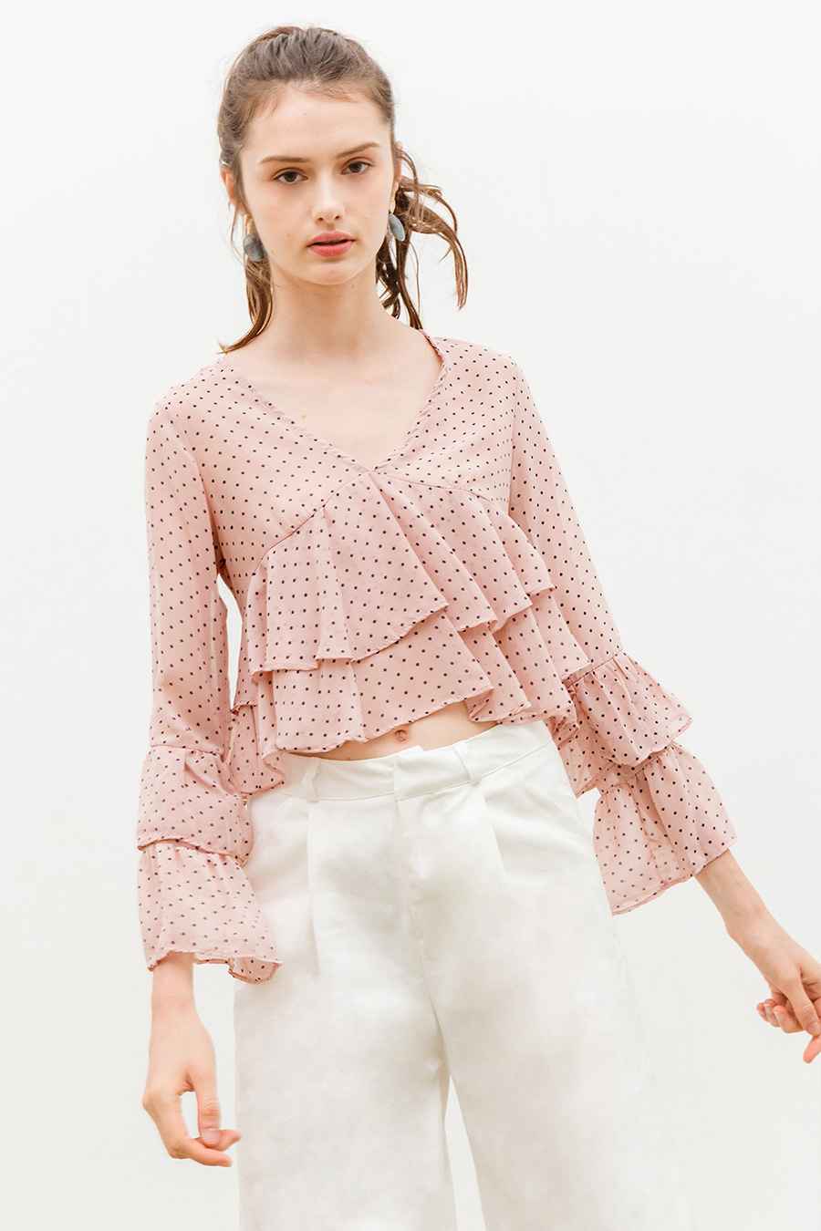 *BO* FRANCES TOP - PUCE