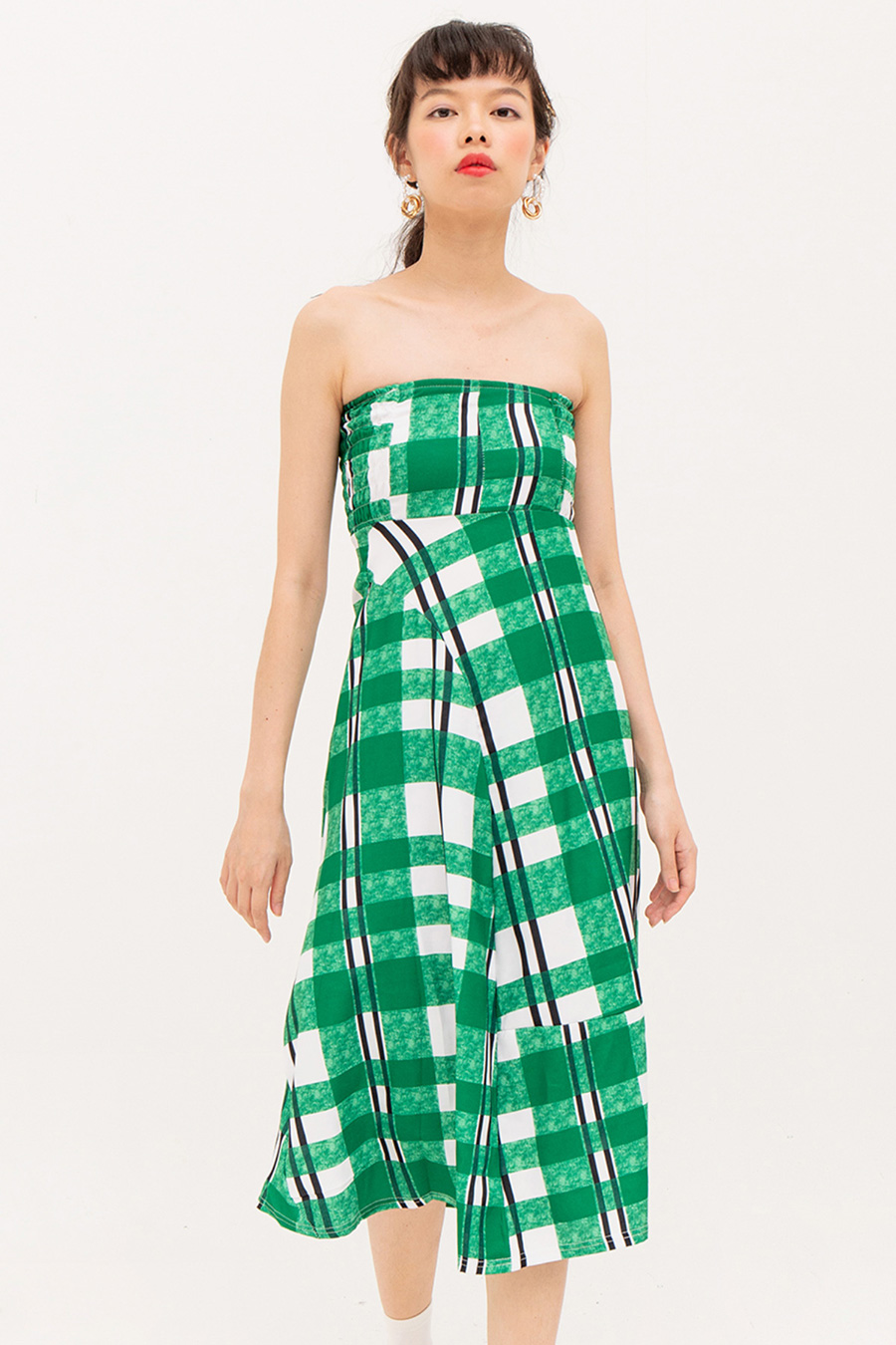 FRANCETTE DRESS - EMERALD PLAID