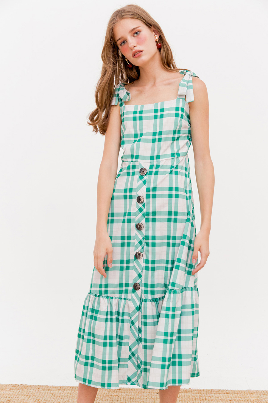 *BO* FRANKFORT MIDI DRESS - AVOCADO