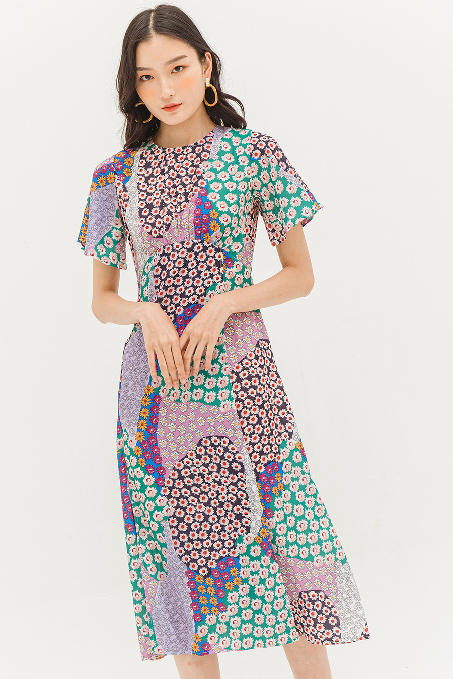 *SALE* FREJA DRESS - PATCHWORK