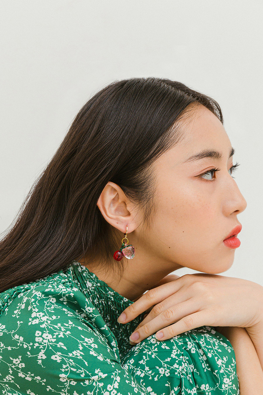 FRUITIE EARRING - CHERRY BERRY [BY MODPARADE]